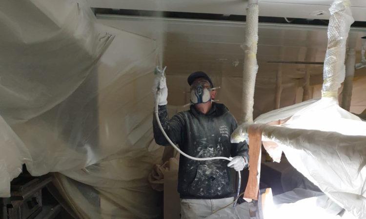 Spraying Deckheads